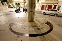 Памятник зеркала Сальвадора Dali стоковое изображение