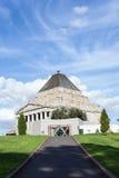 Памятник здания, военный мемориал Мельбурна Стоковые Изображения
