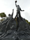 Памятник игроков рэгби Стоковое Фото
