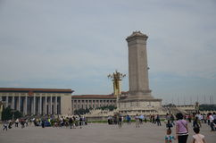 Памятник Китая Пекина к героям людей Стоковые Изображения RF