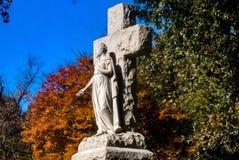 Памятник кладбища Стоковая Фотография