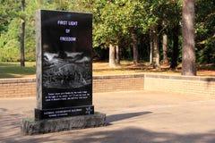 Памятник колонии Freedmen's Стоковые Фотографии RF