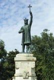 Памятник конематки Stefan cel в Chisinau, Молдавии Стоковое Изображение RF