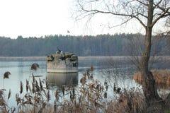 Памятник коробочки для таблеток 127 Второй Мировой Войны Стоковые Изображения