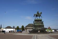 Памятник короля Johann Саксонии Стоковые Фото