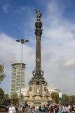 Памятник Колумбуса на набережной Барселоны Стоковое Изображение RF
