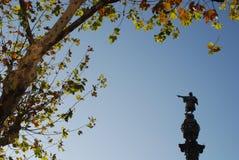 Памятник Колумбуса (памятник Colom) Барселона Стоковые Фотографии RF
