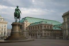 Памятник к австрийцу Albrecht фельдмаршала установленному в 1899 Стоковое Изображение