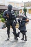 Памятник к вежливо людям Симферополь, Крым стоковые изображения rf