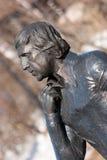 Памятник к Владимиру Semyonovich Vysotsky в Магадане Стоковые Фотографии RF