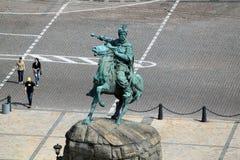 Памятник к гетману Bogdan Khmelnitsky, Киеву Стоковое Фото