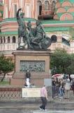 Памятник к гражданину Minin и красной площади принца Pozharsky Москвы стоковые фото