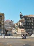 Памятник к Джузеппе Гарибальди в Неаполь Кампания, Италия Стоковая Фотография