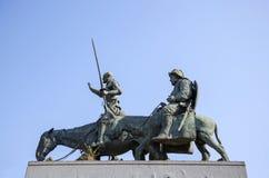 Памятник к Дон Quixote и Sancha Panza в Брюсселе Стоковые Фото
