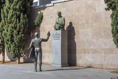 Памятник к Д-р Gregório Рафаэлю da Сильве de Almeida Fleming, Мадрид Стоковое фото RF