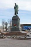 Памятник к квадрату Pushkin Москвы Pushkin стоковое фото