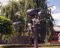 Памятник к котенку от улицы Lizyukova, Воронежа, России Стоковые Изображения RF