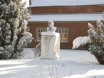 Памятник к Ленину в зиме Стоковое Изображение
