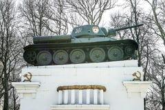 Памятник к мертвым солдатам в Второй Мировой Войне бак 34 t Стоковые Изображения