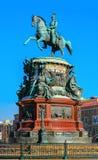 Памятник к Николасу первое Стоковая Фотография RF
