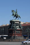 Памятник к Николасу i в Санкт-Петербурге Стоковые Фотографии RF