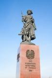 Памятник к основателям Иркутска. Россия. Стоковые Фотографии RF