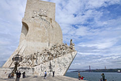 Памятник к открытиям в Belem, Лиссабоне, Португалии стоковое изображение rf