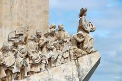 Памятник к открытиям, Лиссабон, Португалия Стоковые Фото