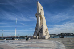 Памятник к открытиям (dos Descobrimentos Padrão) Стоковое Фото