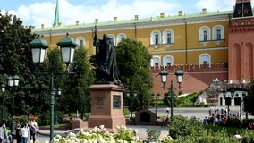 Памятник к патриарх сток-видео