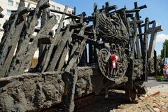 Памятник к падать и убитый в востоке в Варшаве, Польше стоковые фото