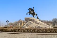 Памятник к Питеру большой (бронзовый наездник) Стоковые Изображения RF