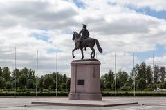 Памятник к Питеру i в дворце Константина Strelna Россия стоковое изображение