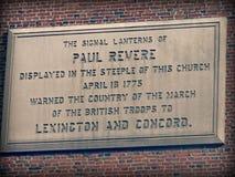 Памятник к Полу Revere в Бостоне, Массачусетсе Стоковые Фото