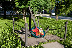 Памятник к русскому военно-морскому флоту Nevyansk Россия Стоковое Изображение RF