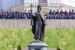 Памятник к святому принцу Владимиру в самаре стоковые фото