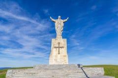 Памятник к священному сердцу Иисуса в Овьедо astrological Испания стоковая фотография