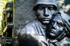 Памятник к солдатам которые умерли в 2-ой мировой войне (Россия) стоковое фото rf