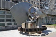 Памятник к технологическому прогрессу Стоковое фото RF