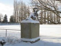Памятник к футболисту Стоковая Фотография