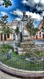 Памятник к флигелю ¼ Eusebi GÃ стоковое изображение rf
