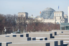 Памятник к холокосту в Берлине Стоковая Фотография RF