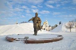 Памятник к Юрию Dolgoruky, Dmitrov, России стоковые фото