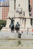 Памятник к Cervantes в Мадриде Стоковые Фото