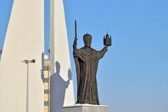 Памятник к St Nicholas Wonderworker Калининград, Россия Стоковые Фотографии RF