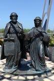 Памятник к St Peter и Fevronia на обваловке деревни Romanovskaya в зоне Ростова Стоковое Изображение RF