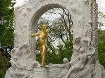 памятник к Strauss Стоковые Фотографии RF