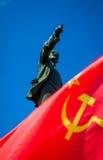 Памятник Ленина на торжестве Дня Трудаа 1-ого мая Стоковое Изображение RF