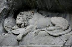 Памятник Люцерн Швейцария льва Стоковые Фото