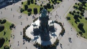 Памятник Марии Терезы в антенне вены видеоматериал
